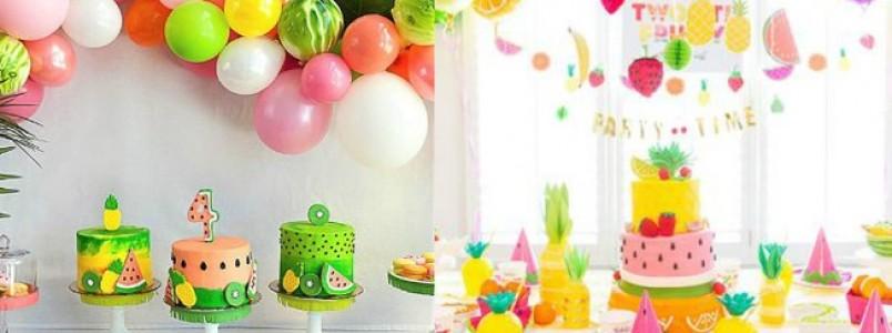 Saiba como conseguir uma decoração de fruta para o aniversário do seu filho