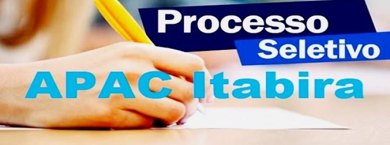 Confira a lista dos aprovados no processo seletivo para trabalharem na APAC de Itabira