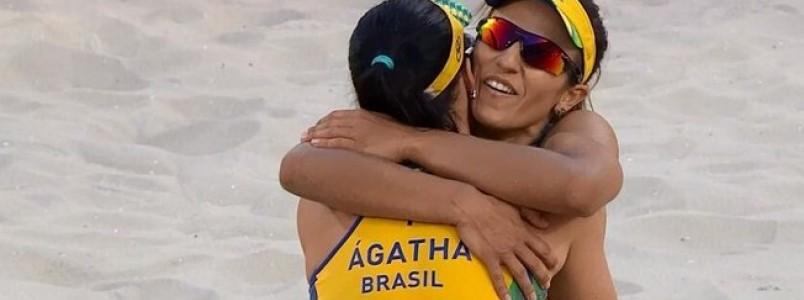 Agatha e Barbara Seixas vencem no tie-break em estreia no vôlei de praia