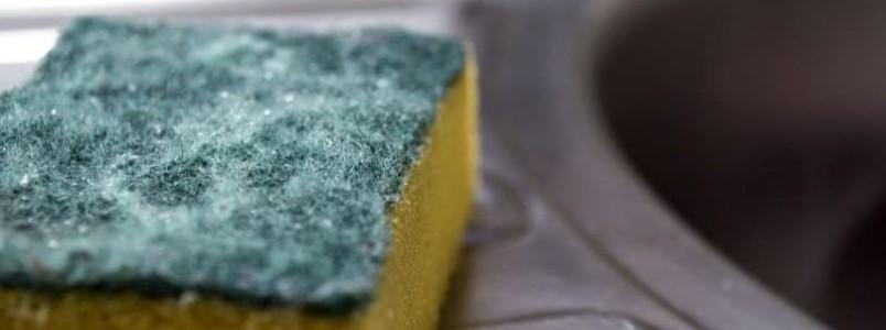 Você sabe realmente com que frequência você deve trocar a esponja de cozinha?