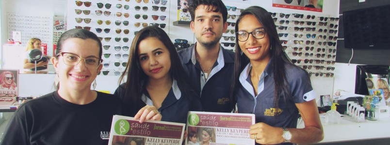 Ótica Novo Mundo recebe nova edição do jornal Saúde & Estilo
