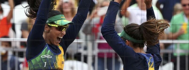 Só mulheres podem fazer final Brasil x Brasil no vôlei de praia