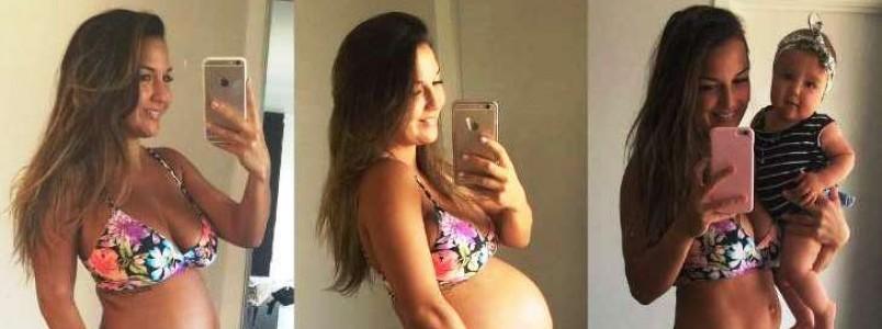 Esta mamãe fitness está dando um belo exemplo de aceitação do corpo no pós-parto