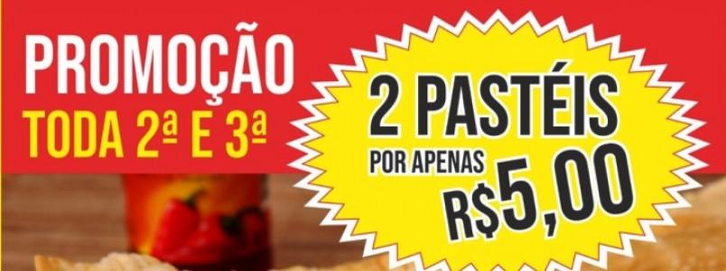 Cia do Pastel: 2 pasteis apenas R$5,00