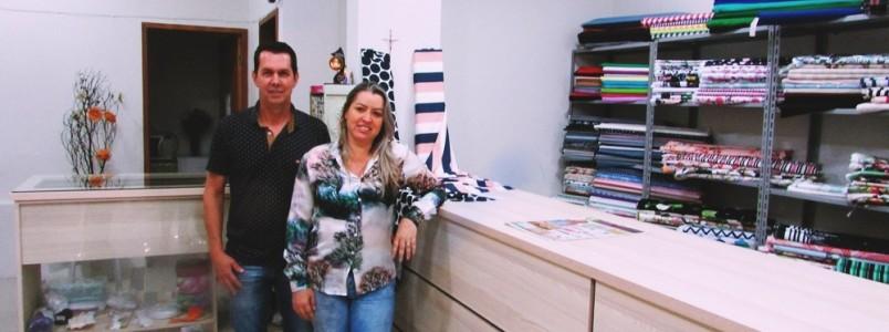 Glória e Lelé Fraga empresários da Meia de Seda, em João Monlevade, MG