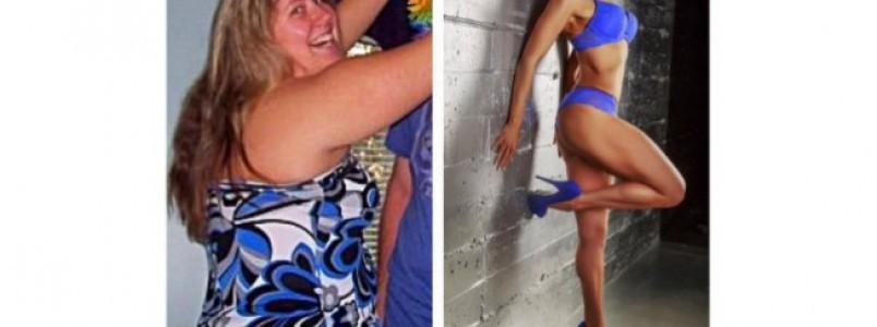 Mulher elimina metade de seu peso e se dedica a competições fitness