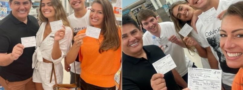 Nos EUA, Cesar Filho e a família recebem vacina contra a covid-19