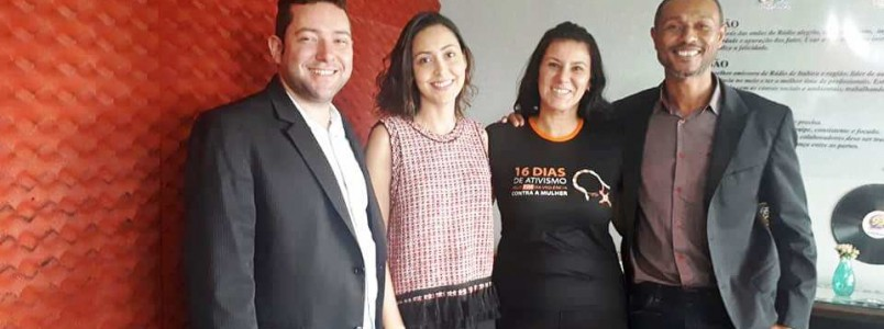 93 FM aborda tema contra violência feminina